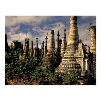 Asien, Myanmar, Inle See. Alte Ruinen von Postkarte