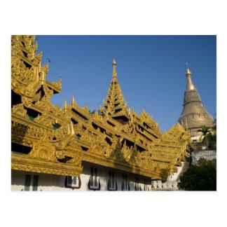 Asien, Myanmar, Rangun. Goldenes stupa von Postkarte