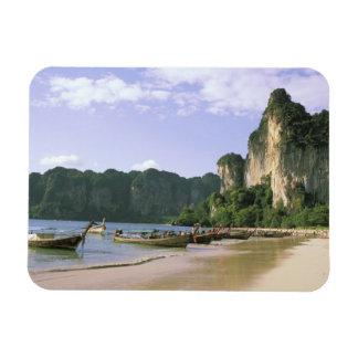 Asien, Thailand, Krabi. WestRailay Strand, lang Flexibler Magnet