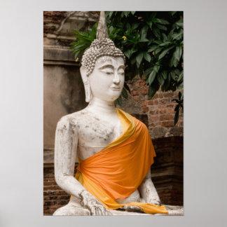 Asien Thailand Siam Buddha in Ayutthaya Plakatdruck