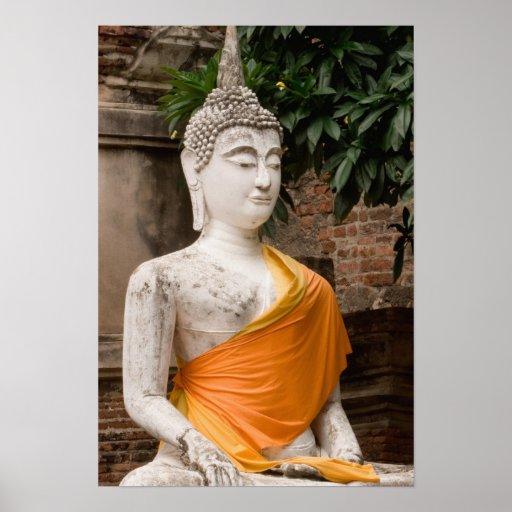Asien, Thailand, Siam, Buddha in Ayutthaya Plakatdruck