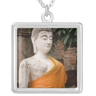 Asien, Thailand, Siam, Buddha in Ayutthaya Versilberte Kette