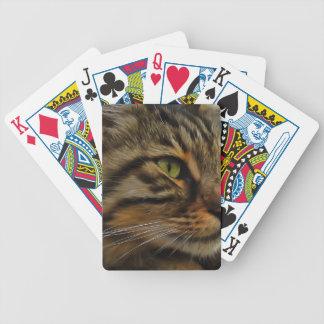 Aslan die langhaarige Tabby-Katze Bicycle Spielkarten