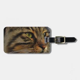 Aslan die langhaarige Tabby-Katze Kofferanhänger
