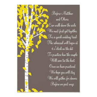 Aspen-Birken-Baum-Proben-Abendessen-Einladungen 12,7 X 17,8 Cm Einladungskarte