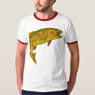 Aspen-Blatt-Regenbogenforelle 2 T-Shirt