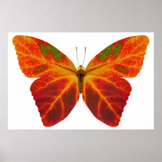 Aspen-Blatt-Schmetterling 2 Poster