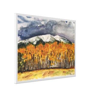 Aspen-Gebirgswatercolor-Druck-Leinwand 24x18 Leinwanddruck
