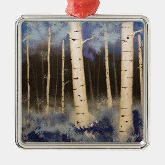 Aspen-Waldung Silbernes Ornament