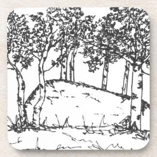 Aspen-Waldung Untersetzer