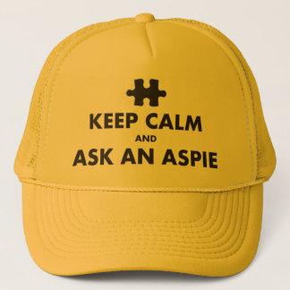 aspergers Syndrom behalten Ruhe, eine Aspie Kappe