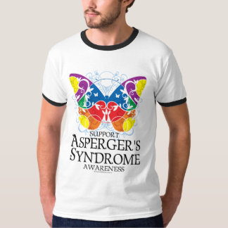 Aspergers Syndrom-Schmetterling T Shirts