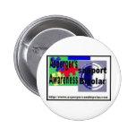 Aspergers und zweipoligen Knopfes Button
