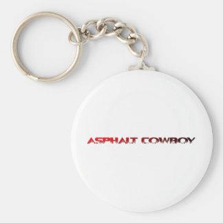 Asphalt-Cowboy-rote Namenslinie 1 Schlüsselanhänger