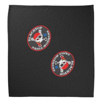 Asphaltbelag-Schädel-Affe-großes Logo auf Bandana Halstuch