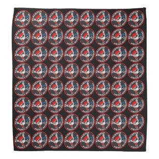 Asphaltbelag-Schädel-Affe-winkliges Logo auf Halstuch