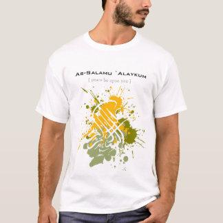 Assalamu 'alaikum - arabische Kalligraphie Kunst T-Shirt