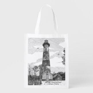 Assateague Insel-Leuchtturm Einkaufsbeutel