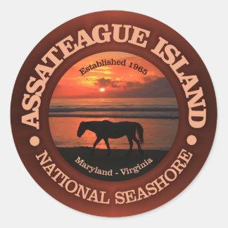 Assateague Insel-Staatsangehörig-Küste Runder Aufkleber