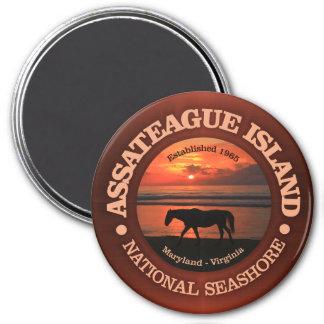 Assateague Insel-Staatsangehörig-Küste Runder Magnet 7,6 Cm
