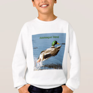Assateague Insel-Stockenten-Enten-Logo Sweatshirt