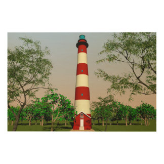 Assateague Lighthouse, Virginia Easterm Shore, Holzdruck