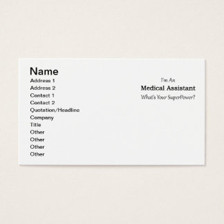 Assistenzarzt Visitenkarte