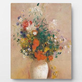 Assortion der Blumen im Vase Fotoplatte