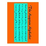 assyrian Alphabet Postkarten
