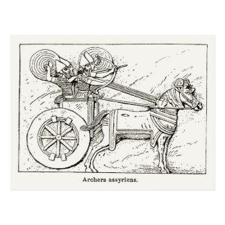 Assyrian Bogenschützen, Vintag, 1890 zeichnend Postkarte