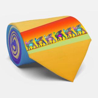 Assyrian Lamassu (Winged Stier) Krawatte 1