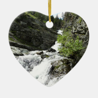 Aster-Nebenfluss am Glacier Nationalpark Keramik Herz-Ornament