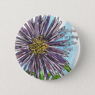 Aster Runder Button 5,1 Cm