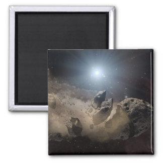 Asteroid beißt den Staub PIA11735 Quadratischer Magnet
