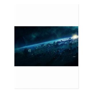 Asteroiden Postkarte