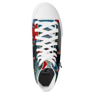 Ästhetische Foto-Straßen-Schuhe Hoch-geschnittene Sneaker