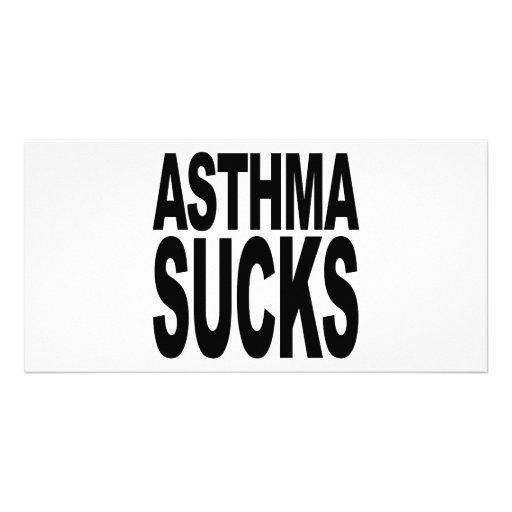 Asthma ist zum Kotzen Personalisierte Photo Karte