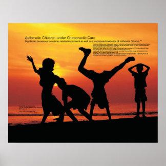 Asthmatische Kinder unter Chiropraktik-Sorgfalt Plakate