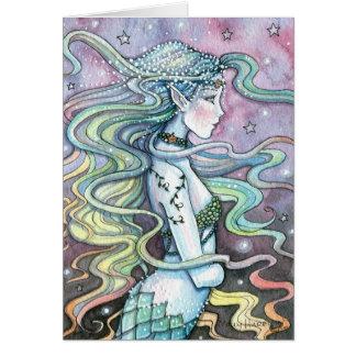 Astra himmlische Meerjungfrau-Kunst-Karte Notecard Karte