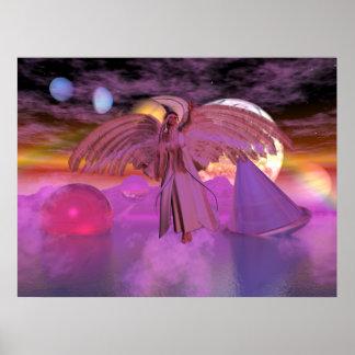 Astralkörper-Fantasie-Sciencefiction-Karte Poster