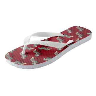 Astrid im Rot Flip Flops