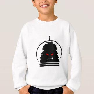Astro Yeti-Schwarzes mit roten Augen Sweatshirt