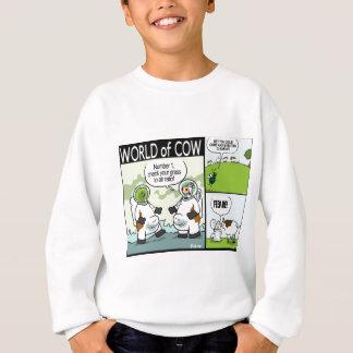 Astrocow, Toiletten-Nahrung und Verwirrung ein Sweatshirt