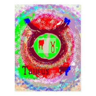 Astrologe Fortuner Erzähler-Symbol-Tierkreis Postkarte