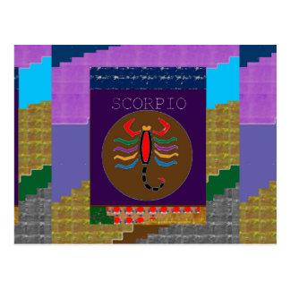 Astrologe-Tierkreis-Vermögen+Erzähler Postkarte