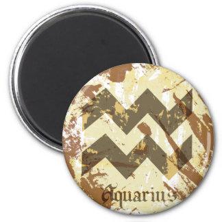Astrologie-Schmutz-Wassermann Runder Magnet 5,1 Cm