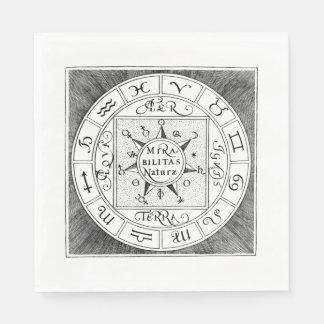 Astrologie-Zeichen-Tierkreis-Symbole Serviette