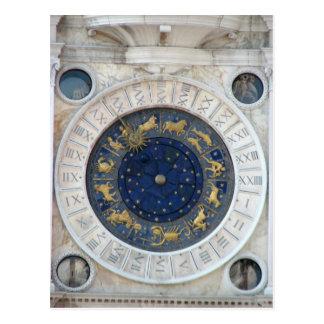 Astrologische Uhr, Marktplatz San Marco, Venedig Postkarten