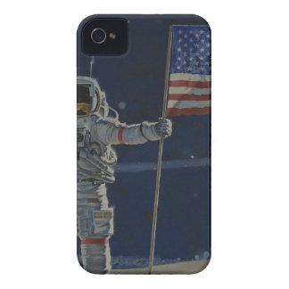 Astronaut auf dem Mond mit amerikanischer Flagge Case-Mate iPhone 4 Hüllen
