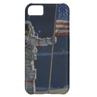 Astronaut auf dem Mond mit amerikanischer Flagge iPhone 5C Schale